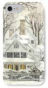 No Place Like Home For The Holidays IPhone Case by Carol Wisniewski