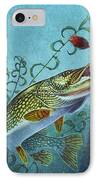 Northern Pike Spinner Bait IPhone Case by Jon Q Wright