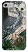 Northern Saw-whet Owl IPhone Case by Sharon Duguay