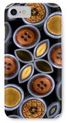 Not Your Mothers Button Box IPhone Case by Jean Noren