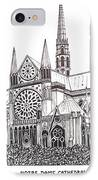 Notre Dame Cathedral - Paris IPhone Case by Frederic Kohli