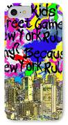 Nyc Kids' Street Games Poster IPhone Case