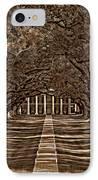 Oak Alley Bw IPhone Case by Steve Harrington