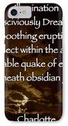 Obsidian Glass IPhone Case by Charlotte  DiSipio-Grillo