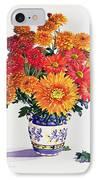 October Chrysanthemums IPhone Case by Christopher Ryland