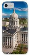 Oklahoma City State Capitol Building C IPhone Case
