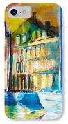Old Copenhagen Thru Stained Glass IPhone Case by Seth Weaver