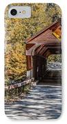 Old Covered Bridge Vermont IPhone Case by Edward Fielding