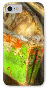 Old Dug-out Canoes IPhone Case by Debra and Dave Vanderlaan