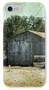 Old Garage And Car In Seligman IPhone Case by RicardMN Photography