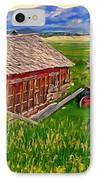 Old Homestead Near Townsend Montana IPhone Case