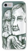 Old Man Behind A Young Mans Face IPhone Case by Richie Montgomery