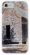 Old Schoolhouse Building IPhone Case by Susan Leggett