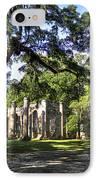 Old Sheldon Church Ruins Near Beaufort Sc IPhone Case by Reid Callaway