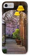 Old Town Courtyard In Victoria British Columbia IPhone Case by Ben and Raisa Gertsberg