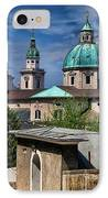 Old Town Salzburg Austria In Hdr IPhone Case by Sabine Jacobs