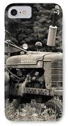 Old Tractor Black And White Square IPhone Case
