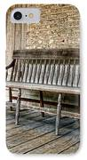 Old Wood Bench IPhone Case by Olivier Le Queinec