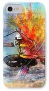 Olympics Canoe Slalom 05 IPhone Case by Miki De Goodaboom