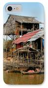 On The Shores Of Tonle Sap IPhone Case