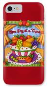 One Day At A Time IPhone Case by Amy Vangsgard