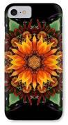 Orange Gazania IIi Flower Mandala IPhone Case