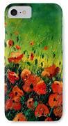 Orange Poppies  IPhone Case by Pol Ledent
