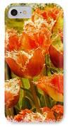 Orange Princess Fringed Tulips IPhone Case