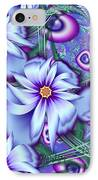 Orbiting Hearts And Flowers IPhone Case by Peggi Wolfe