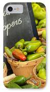 Organic Peppers At Farmers Market IPhone Case