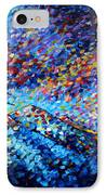 Original Abstract Impressionist Landscape Contemporary Art By Madart Mountain Glory IPhone Case