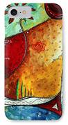 Original Abstract Pop Art Style Colorful Landscape Painting Home To Tuscany By Megan Duncanson IPhone Case
