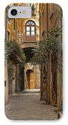 Orvieto Side Street IPhone Case by Lynn Andrews