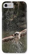 Osprey Fishing The Nequasset River IPhone Case by Allen Ponziani