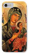 Our Lady Of Perpetual Help Icon II IPhone Case by Ryszard Sleczka