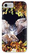 Owl About To Land IPhone Case by Manfred Danegger