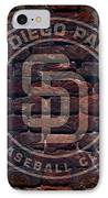 Padres Baseball Graffiti On Brick  IPhone Case by Movie Poster Prints