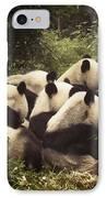 Pandamonium IPhone Case by Joan Carroll