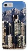 Pano Vancouver Snowy Skyline IPhone Case by David Smith