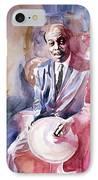 Papa Jo Jones Jazz Drummer IPhone Case by David Lloyd Glover