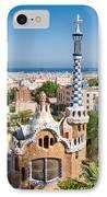 Parc Guell Barcelona Antoni Gaudi IPhone Case by Matthias Hauser
