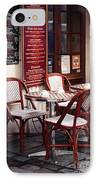 Paris Cafe IPhone Case by John Rizzuto