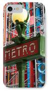Paris Metro IPhone Case by Inge Johnsson