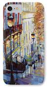 Paris Monmartr Steps IPhone Case by Yuriy  Shevchuk