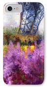 Paris Tour Eiffel 01 IPhone Case by Yuriy  Shevchuk