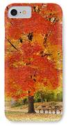 Park In Fall IPhone Case by Yoshiko Wootten
