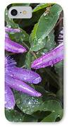 Passion Vine Flower Rain Drops IPhone Case