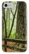 Path Into The Forest IPhone Case by Debra and Dave Vanderlaan