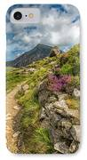 Path To Lake Idwal IPhone Case by Adrian Evans