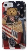 Patriot Bear IPhone Case by Sharon Elliott
